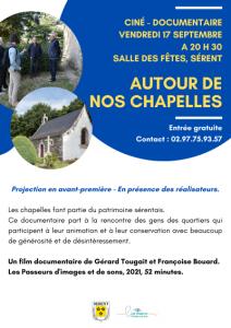 """Journées Européennes du Patrimoine : Projection """"Autour de nos chapelles"""""""