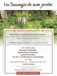 """""""Les Sauvages de mon jardin""""  26/11"""