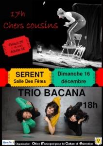 """Spectacle comique """"Chers voisins"""" et apéro-concert avec le groupe """"Trio Bacana"""""""