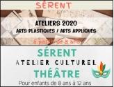 Inscriptions aux ateliers culturels théâtre et arts plastiques/arts appliqués